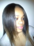 Completed sew-in